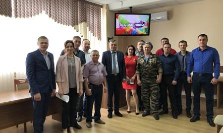 Заслуженным работникам «Брянсксельмаша» вручили памятные медали «75 лет освобождения Брянской области»