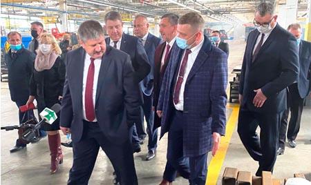 Визит Гомельской делегации во главе с Геннадием Соловьем на БРЯНСКСЕЛЬМАШ
